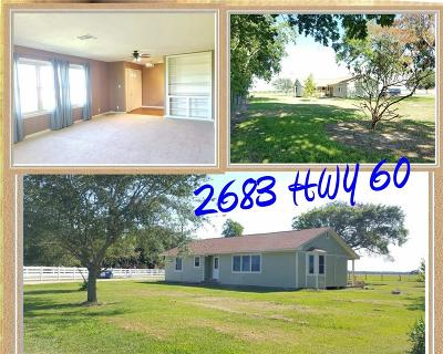 Bay City Single Family Home For Sale: 2683 State Highway 60 N