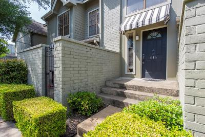 Houston Condo/Townhouse For Sale: 616 Fargo Street