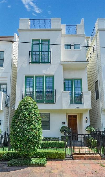 Houston Condo/Townhouse For Sale: 1718 Edwards Street