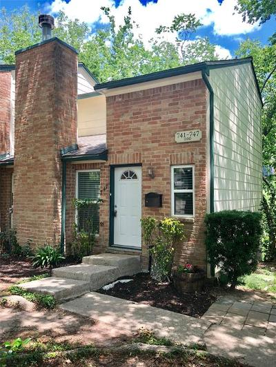 Houston Condo/Townhouse For Sale: 747 Worthshire Street