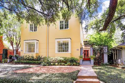 Houston Single Family Home For Sale: 2339 1/2 Bolsover Street