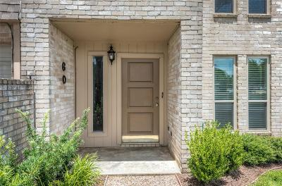 Sugar Land Condo/Townhouse For Sale: 60 River Creek Way