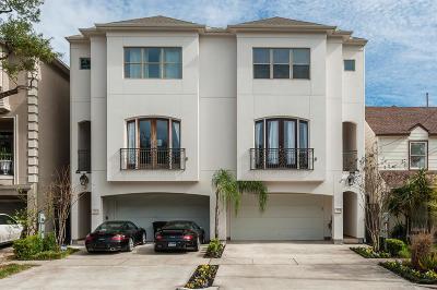Houston Condo/Townhouse For Sale: 2305 Elmen Street #B