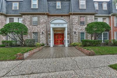 Houston Condo/Townhouse For Sale: 351 N Post Oak Lane N #803