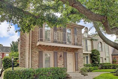 Houston Condo/Townhouse For Sale: 2323 Augusta Drive #19