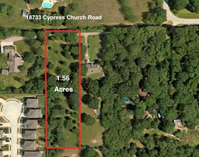Cypress Residential Lots & Land For Sale: 18733 Cypress Church Road