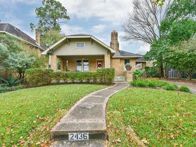 Houston TX Single Family Home For Sale: $310,000