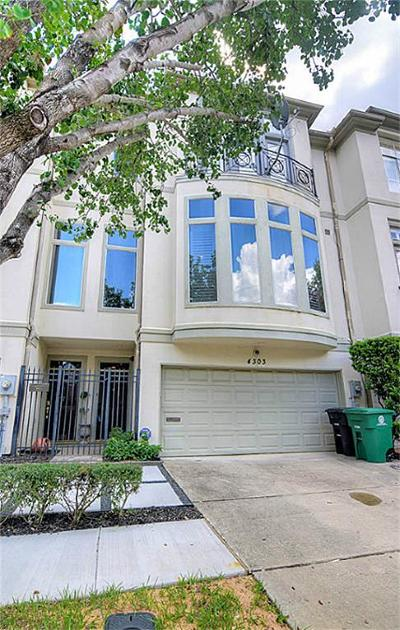 Houston Condo/Townhouse For Sale: 4303 Childress