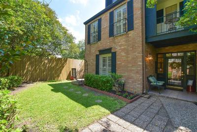 Houston Condo/Townhouse For Sale: 3601 Wakeforest Street