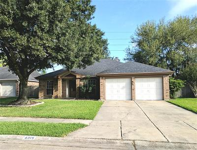 Pearland Rental For Rent: 4315 Morris Court