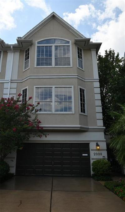 Houston Condo/Townhouse For Sale: 2008 McDuffie Street N