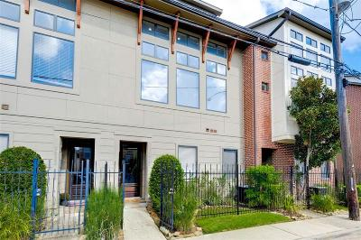 Houston Condo/Townhouse For Sale: 2825 Pease Street