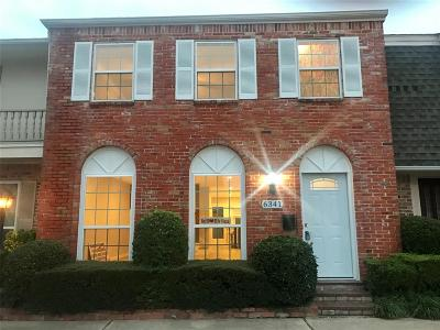 Houston Condo/Townhouse For Sale: 6341 Del Monte Drive #94