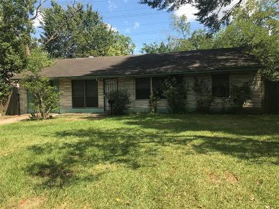 Houston Single Family Home For Sale: 7723 Belgard Street
