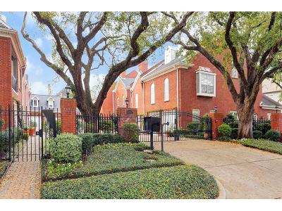 Houston Condo/Townhouse For Sale: 2902 West Lane #F