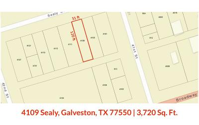 Galveston Residential Lots & Land For Sale: 4109 Sealy Street