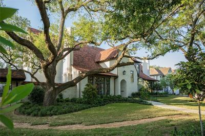 River Oaks Single Family Home For Sale: 2520 Del Monte Drive