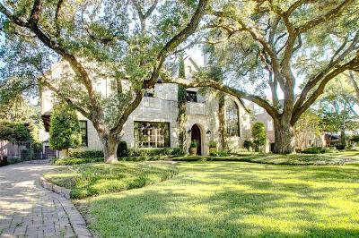 Houston TX Single Family Home For Sale: $3,390,000