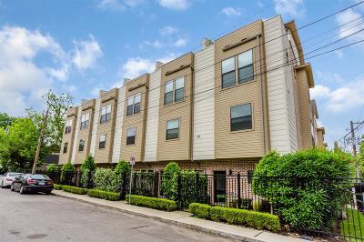 Houston Condo/Townhouse For Sale: 3950 Floyd Street #2
