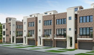 Houston Condo/Townhouse For Sale: 6106 Clarkson #A
