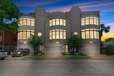Houston Condo/Townhouse For Sale: 1982 Indiana Street #B