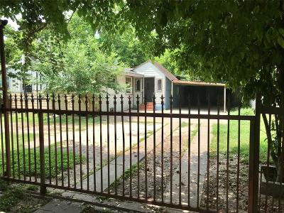 Houston TX Single Family Home For Sale: $85,000