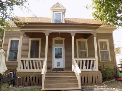 Galveston TX Single Family Home For Sale: $125,000