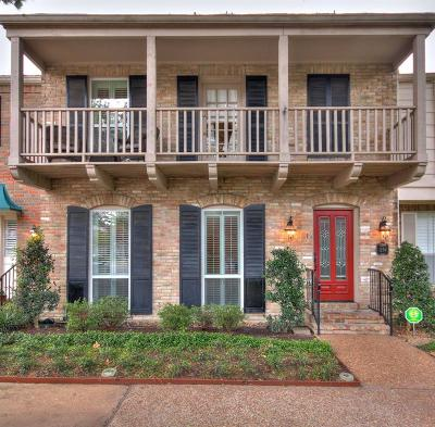 Houston Condo/Townhouse For Sale: 1256 Fountain View Drive #169