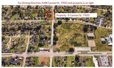 Houston Residential Lots & Land For Sale: Carmen Street