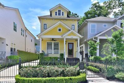 Houston Single Family Home For Sale: 709 Waverly Street
