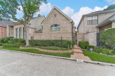 Galveston County, Harris County Condo/Townhouse For Sale: 9561 Doliver Drive