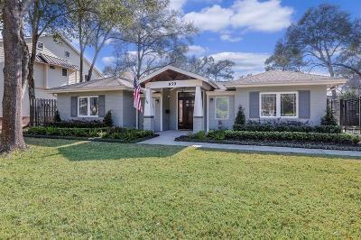 Houston Single Family Home For Sale: 859 Lamonte Lane