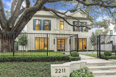 Houston Single Family Home For Sale: 2211 Inwood Drive
