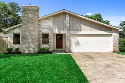 Spring Single Family Home For Sale: 17411 Seven Pines Drive