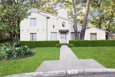 Houston Single Family Home For Sale: 346 Tamerlaine Drive