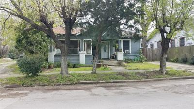 Houston Single Family Home For Sale: 1405 Hussion Street