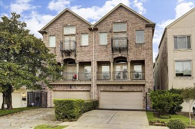 Houston Condo/Townhouse For Sale: 6223 Westcott Street