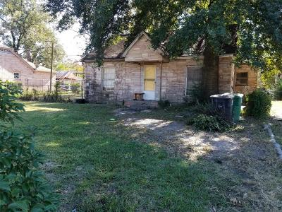 Houston Single Family Home For Sale: 2412 Bostic Street