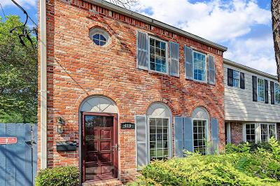 Houston Condo/Townhouse For Sale: 419 Bendwood Drive #52