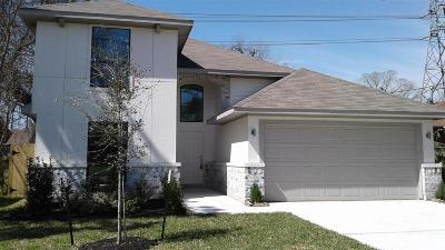 Houston TX Single Family Home For Sale: $350,000