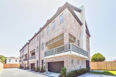 Houston Condo/Townhouse For Sale: 612 E 20 #D