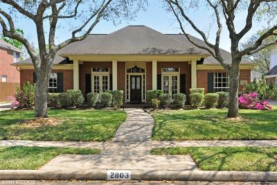 Sugar Land Single Family Home For Sale: 2803 Oakland Drive