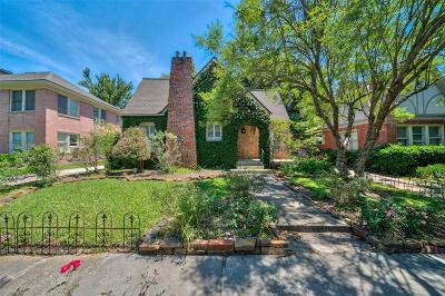 Houston Single Family Home For Sale: 1805 McDuffie Street