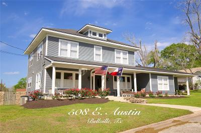 Bellville Single Family Home For Sale: 508 E Austin Street