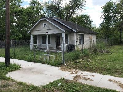 Houston Single Family Home For Sale: 3314 Webster Street