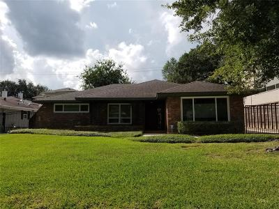 Houston TX Single Family Home For Sale: $3,800