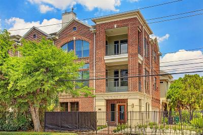 Houston Condo/Townhouse For Sale: 1217 Dunlavy Street