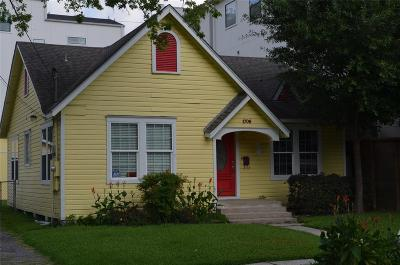 Houston Single Family Home For Sale: 1706 Ridgewood Street