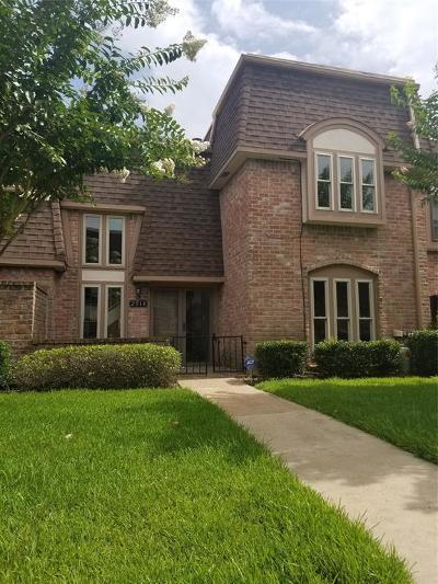 Missouri City Condo/Townhouse For Sale: 2914 Nottingham Lane