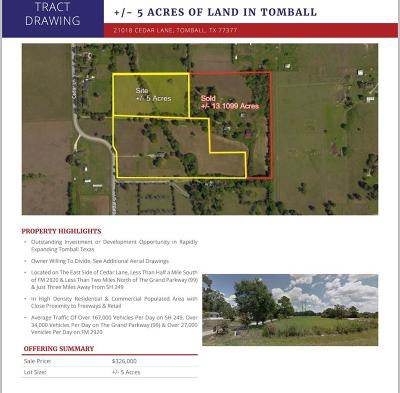 Tomball Country Home/Acreage For Sale: 21014 Cedar Lane